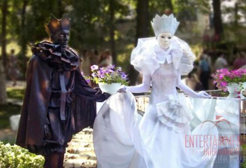Живые статуи на праздник