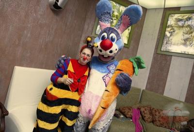 Аниматор Пчёлка Майя и Кролик