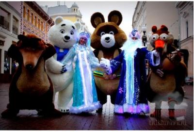 Светящиеся Дед Мороз и Снегурочка